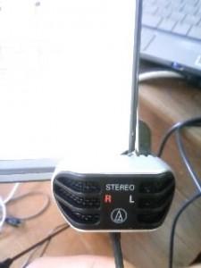 audio-technica ステレオマイクロホン(タイピン型) AT9902
