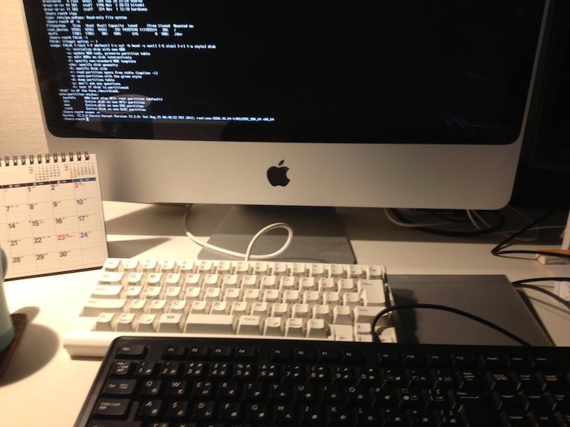 WinキーボードでMacのシングルユーザモード起動